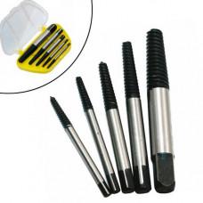 Набір з 5 екстракторів спіральних для вилучення уламків гвинтів