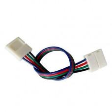 Конектор двосторонній для 10мм стрічки LED SMD 5050 RGB, 2 засувки