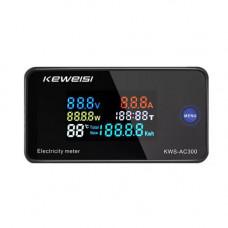 Цифровий вольтметр амперметр ватметр AC 50-300В 100А 30кВт KWS-AC300