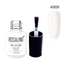 Гель-лак для нігтів манікюру 7мл Rosalind, шелак, А909 білий дим