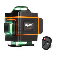 Професійний лазерний рівень нівелір 16 ліній 4х360град АКБ Hilda 4D ДУ