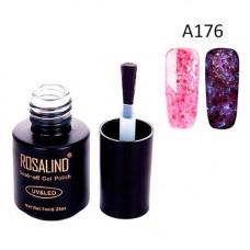 Гель-лак для нігтів манікюру 7мл Rosalind, гліттер світиться, А176 канна