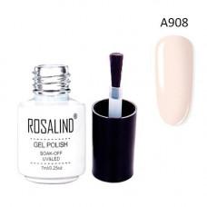 Гель-лак для нігтів манікюру 7мл Rosalind, шелак, А908 морська мушля