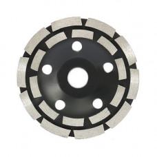 Шліфувальний дворядний Алмазний круг, 125мм, чашковий, по каменю