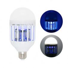 Лампа світлодіодна пастка для знищення комарів комах 15Вт, Е27