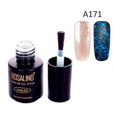 Гель-лак для нігтів манікюру 7мл Rosalind, гліттер світиться, А171 кларкія