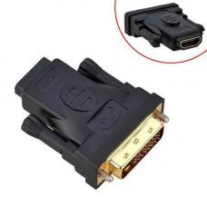 DVI 24+5 - HDMI адаптер-перехідник, позолочений