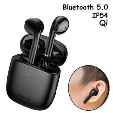 Бездротові навушники гарнітура з кейсом Baseus Encok W04 Pro Bluetooth Чорні