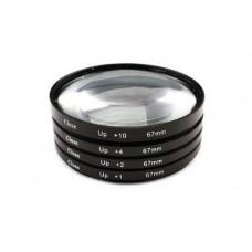 Набір макролинз 67мм Close-up, +1+2+4+10, макро