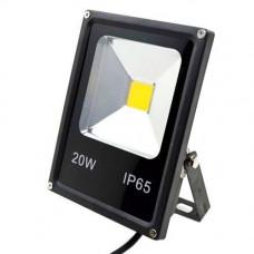Прожектор світлодіодний LED вуличний, теплий білий 20Вт 2000лм 220В