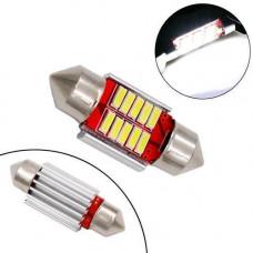 LED C5W C10W 31мм лампа в автомобіль, 10 SMD 4014, з обманкою CANBUS
