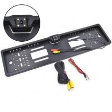 Рамка для номерного знака автомобіля EU з камерою заднього виду, IP68