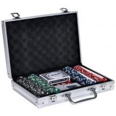 Набір для покеру у валізі: карти, 200 фішок, кубики, покерний