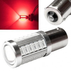 LED 1156 BA15S P21W лампа в автомобіль, 33 SMD 5630, червона