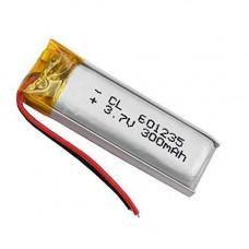 Акумулятор 601235 Li-pol 3.7 В 300мАч для RC моделей MP3 Bluetooth