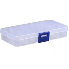 Коробка органайзер кейс бокс для снастей бісеру 12.5х6.3см 10 клітинок білий