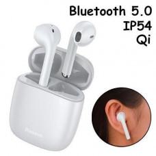 Бездротові навушники гарнітура з кейсом Baseus Encok W04 Pro Bluetooth, Білі