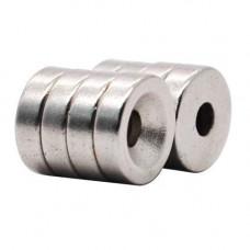 Неодимові магніти кріпильні 10х3мм N50 з отвором зенковкой 3мм 10шт