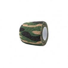 Камуфляжна клейка стрічка, скотч хакі, 5см х 4.5 м, джунглі