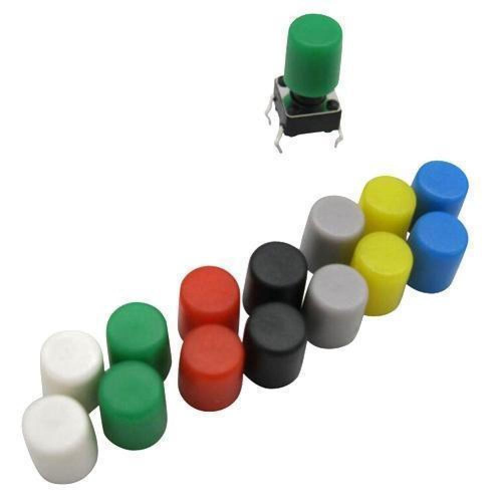10x Ковпачок круглий тактовою кнопки микрика 6мм, висота від 6мм