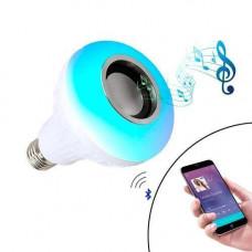 Розумна LED RGB Лампа з Bluetooth динаміком 6+3Вт, пультом ДУ, музична