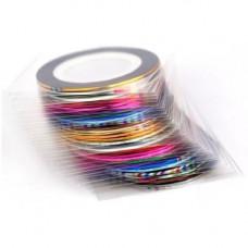 Клейкі стрічки для нігтів, нейл-арт, манікюр, 30штук