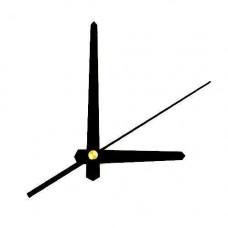 Стрілки для годинника, часового механізму комплект из 3 стрілок. чорні прямі