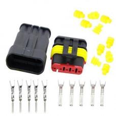 Роз'єм автомобільний електричний герметичний DJ7051-1.5 комплект 5pin