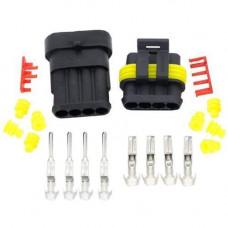 Роз'єм автомобільний електричний герметичний DJ7041-1.5 комплект 4pin