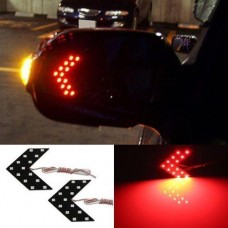 LED покажчики повороту дзеркала заднього виду, червоні, пара