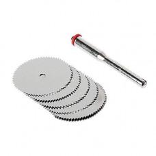 Набір з 5 відрізних кругів, дискових пил 25мм для дремеля гравера