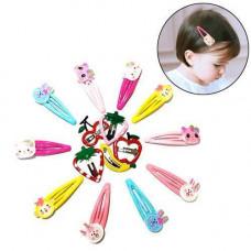 Набір з 15 дитячих шпильок для волосся, різнокольорові з фігурками