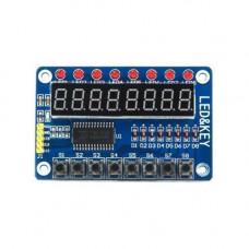 Модуль драйвер клавіатури і світлодіодним індикації TM1638 Arduino
