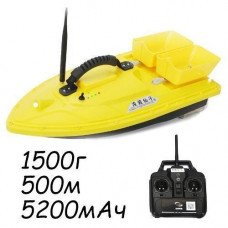 Кораблик для завезення прикормки катер Lingboxianzi T188 1.5 кг 500м чорний