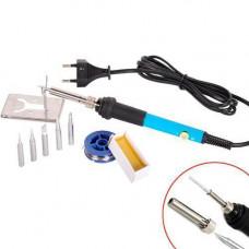 Паяльник електричний регульований 220В 60Вт 200-450C + комплектуючі