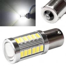 LED 1156 BA15S P21W лампа в автомобіль, 33 SMD, біла