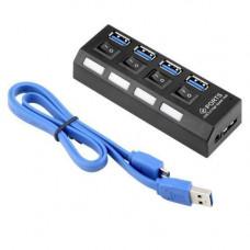 4-портовий USB 3.0 хаб з вимикачами, до 5 Гбіт/с