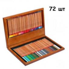 Набір різнокольорових олівців 72 шт, дерев'яний кейс Marco Renoir, подарунковий