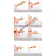 Крючковяз для в'язання гачків до волосіні, петлевяз рибальський 2в1 узловяз