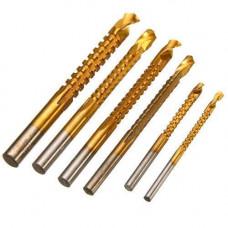 Набір з 6 фрезерних свердел 3-8мм HSS для розсвердлювання бічного пропилу