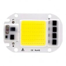 Світлодіодна матриця з драйвером COB LED 50Вт 4500лм 220В, біла