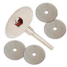 Набір з 5 відрізних кругів, дискових пил 22мм для дремеля гравера