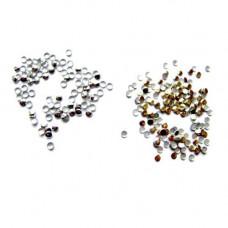 1000 стразів 2мм, метал, нігті нейл-арт манікюр