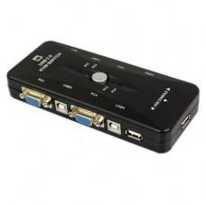 4-портовий KVM свіч, перемикач USB