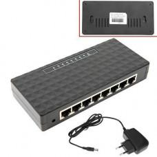 Комутатор мережевий 8-портовий RJ45 свіч світч switch 10/100 Мб/с