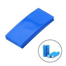 100х Термозбіжна плівка, термоусадка для акумуляторів 18650 синя, набір