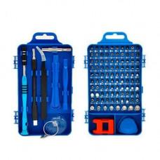 Набір інструментів 110в1 для ремонту електроніки, викрутка з 98 бітами