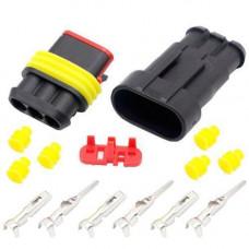 Роз'єм автомобільний електричний герметичний DJ7031-1.5 комплект 3pin