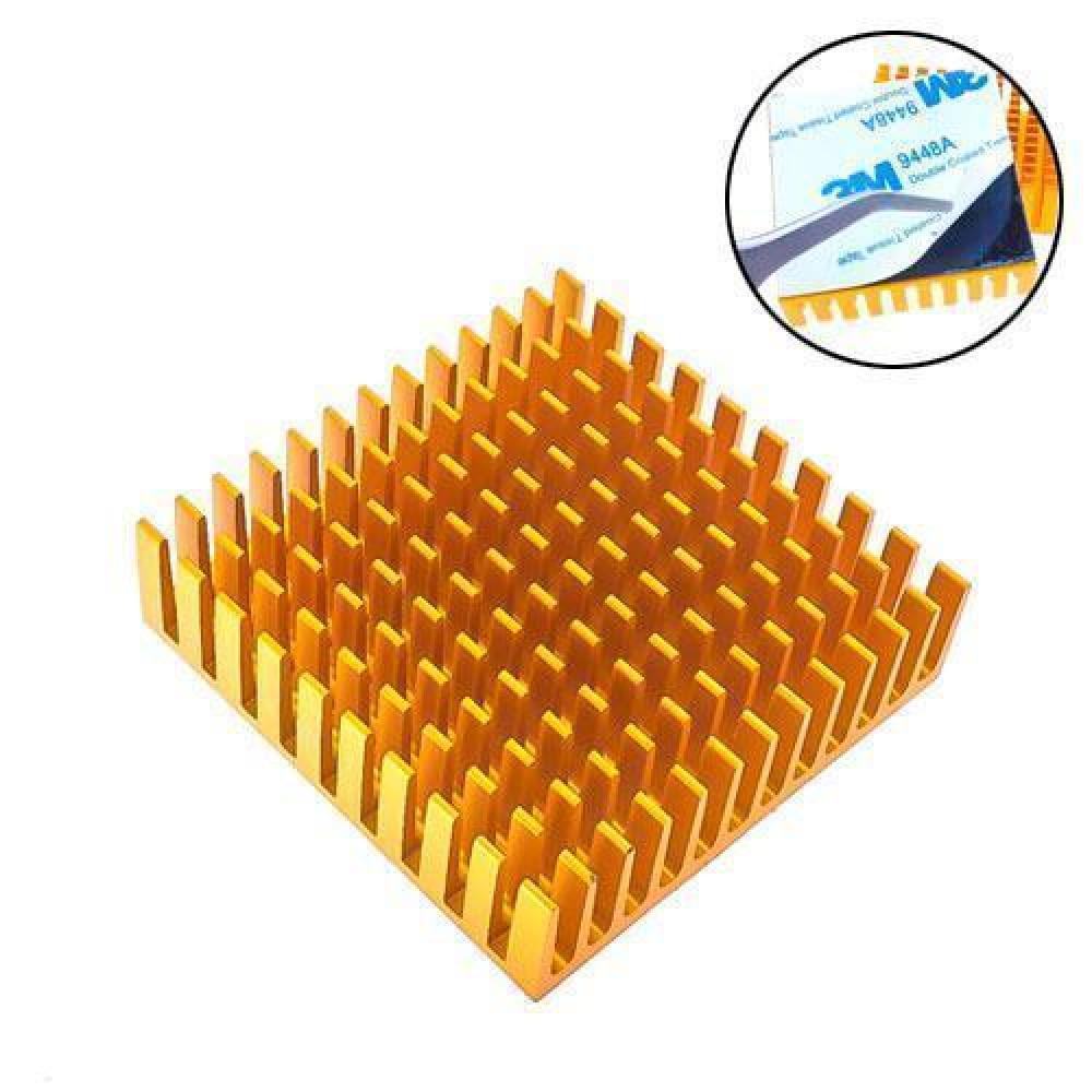 Радіатор алюмінієвий для LED матриць VGA MB 40х40х11мм, клейкий
