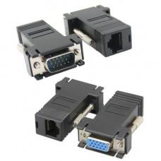 Подовжувач VGA по RJ45 витій парі до 30м UTP тато-мама